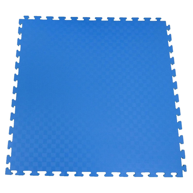 Ergofloor - EVA Sikkerhedsmåtte 1000x1000 Blå/Grå
