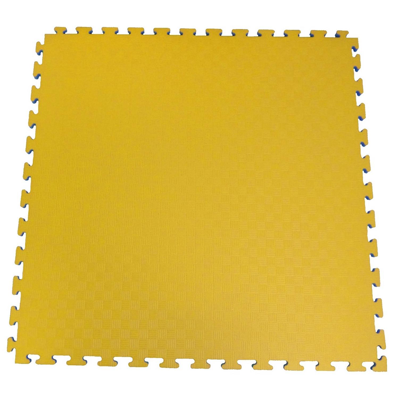 Ergofloor - EVA Sikkerhedsmåtte 1000x1000 Gul/Grå