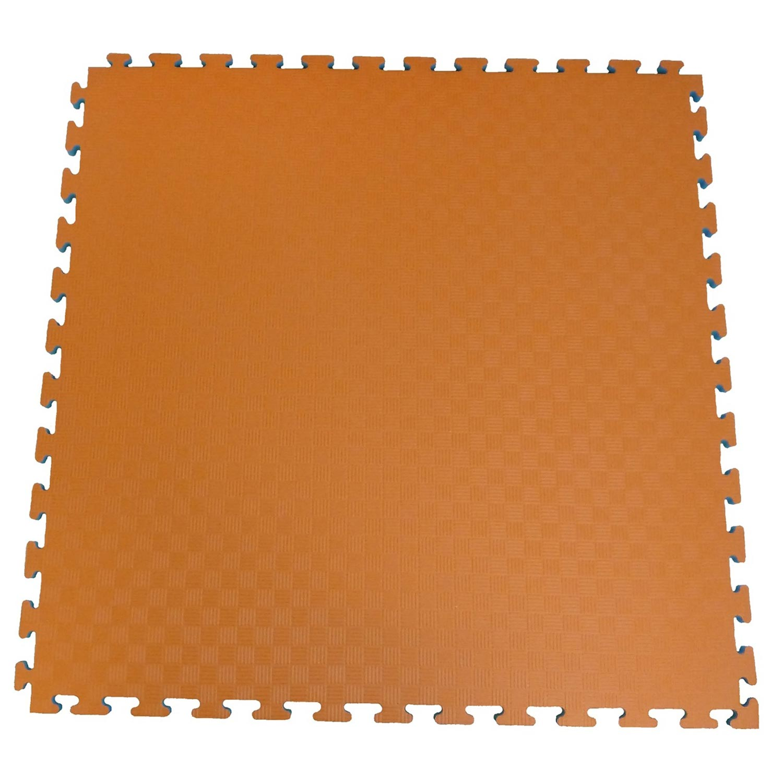 Ergofloor - EVA Sikkerhedsmåtte 1000x1000 Orange/Grå