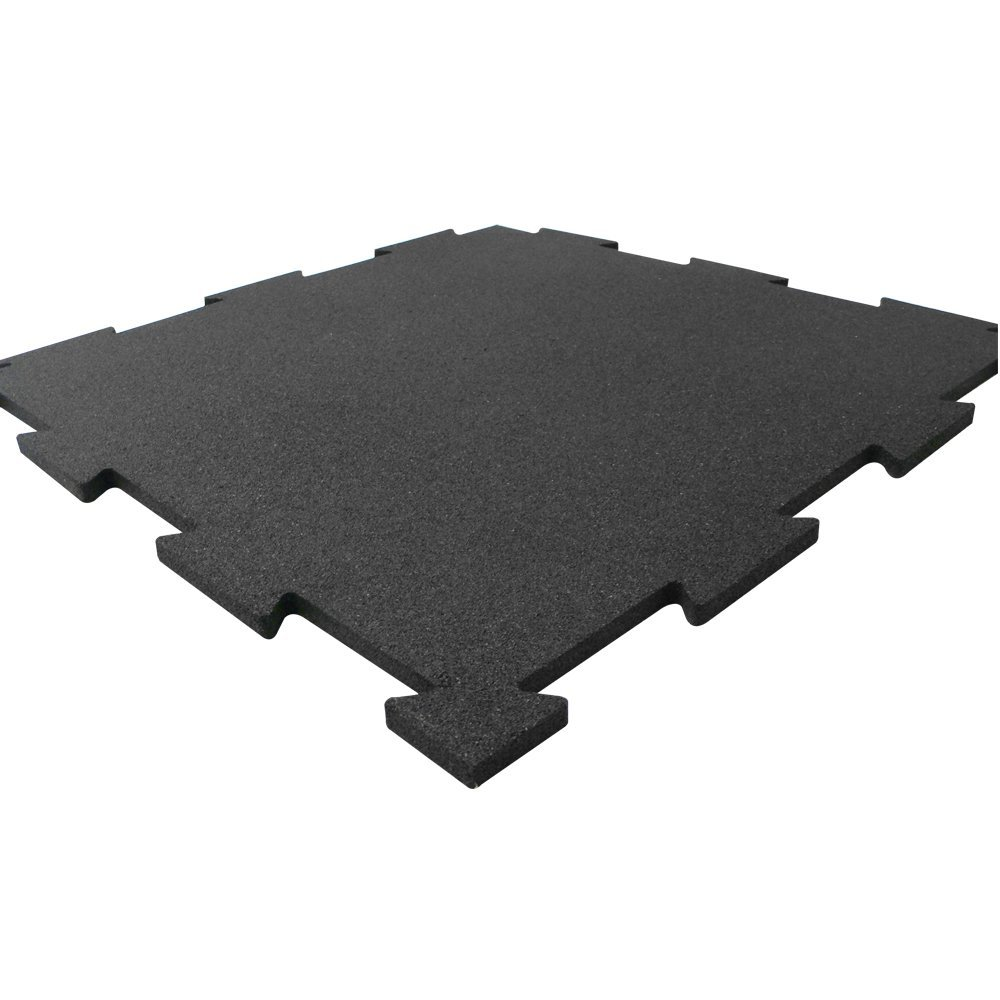 Køb ErgoFloor – ErgoTile Puzzle Gummifliser 518x518x10 mm Sort
