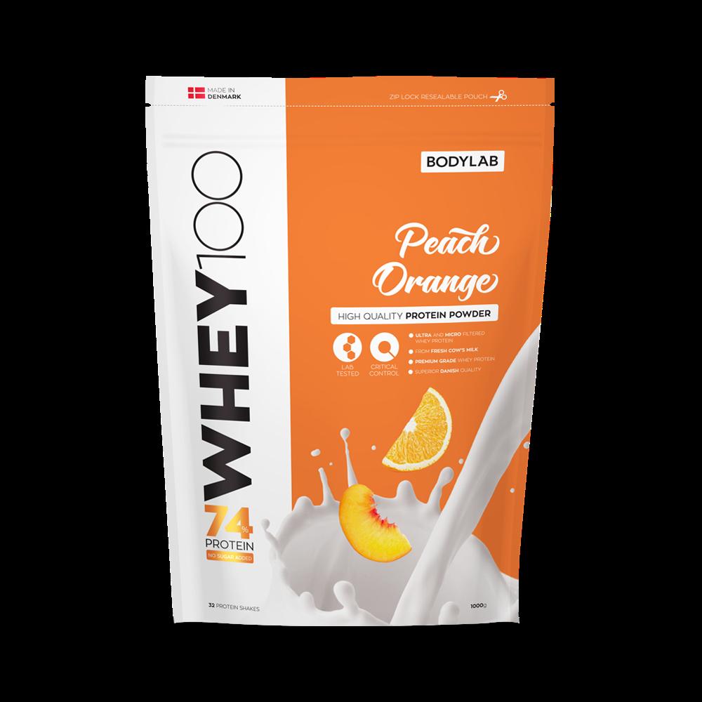 Billede af BodyLab Whey 100 Proteinpulver Peach/Orange (1kg)