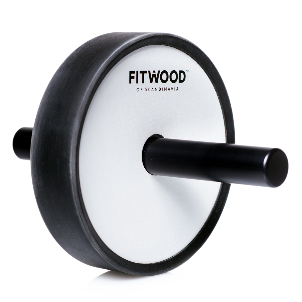 Image of FitWood Kjerag Ab Wheel - Hvid Træ / Sort Alu. Håndtag / Sort Ring (7018)