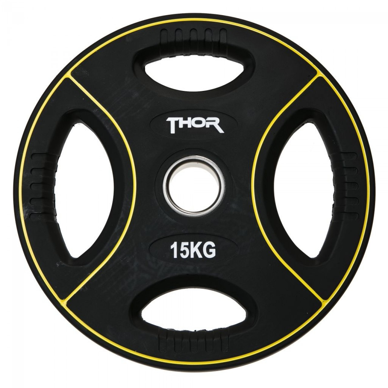 Thor Fitness Vægtskive m. Håndtag 15kg (1stk) - Thor Fitness