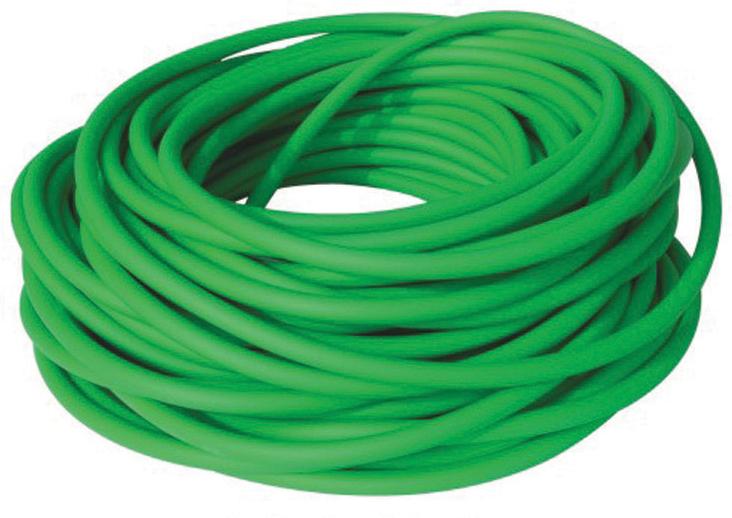 Aserve Latexfri Tubing Træningselastik Light Grøn 7,5m