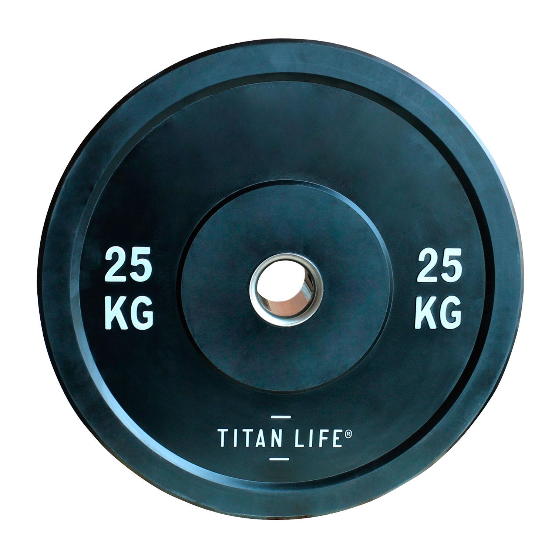 Titan Life Rubber Bumper Plate 25kg Vægtskive