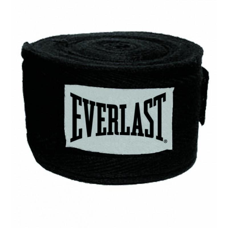 Everlast 3m Cotton/Spandex Blend Wraps Boksebandage Sort