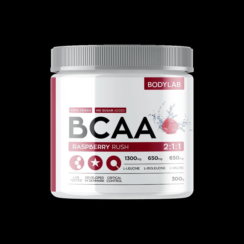 Køb BodyLab BCAA Instant Raspberry Rush (300g)