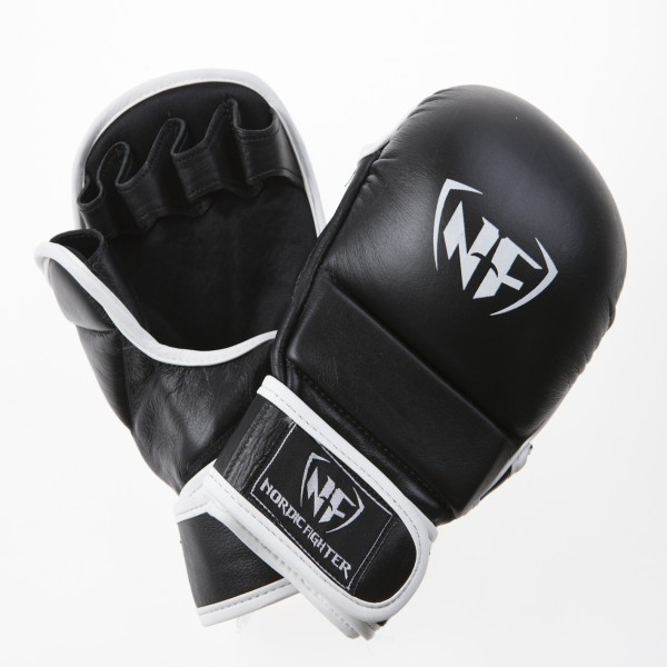 nordic fighter nordic fighter mma handsker shooto gloves pro black ægte læder x-large