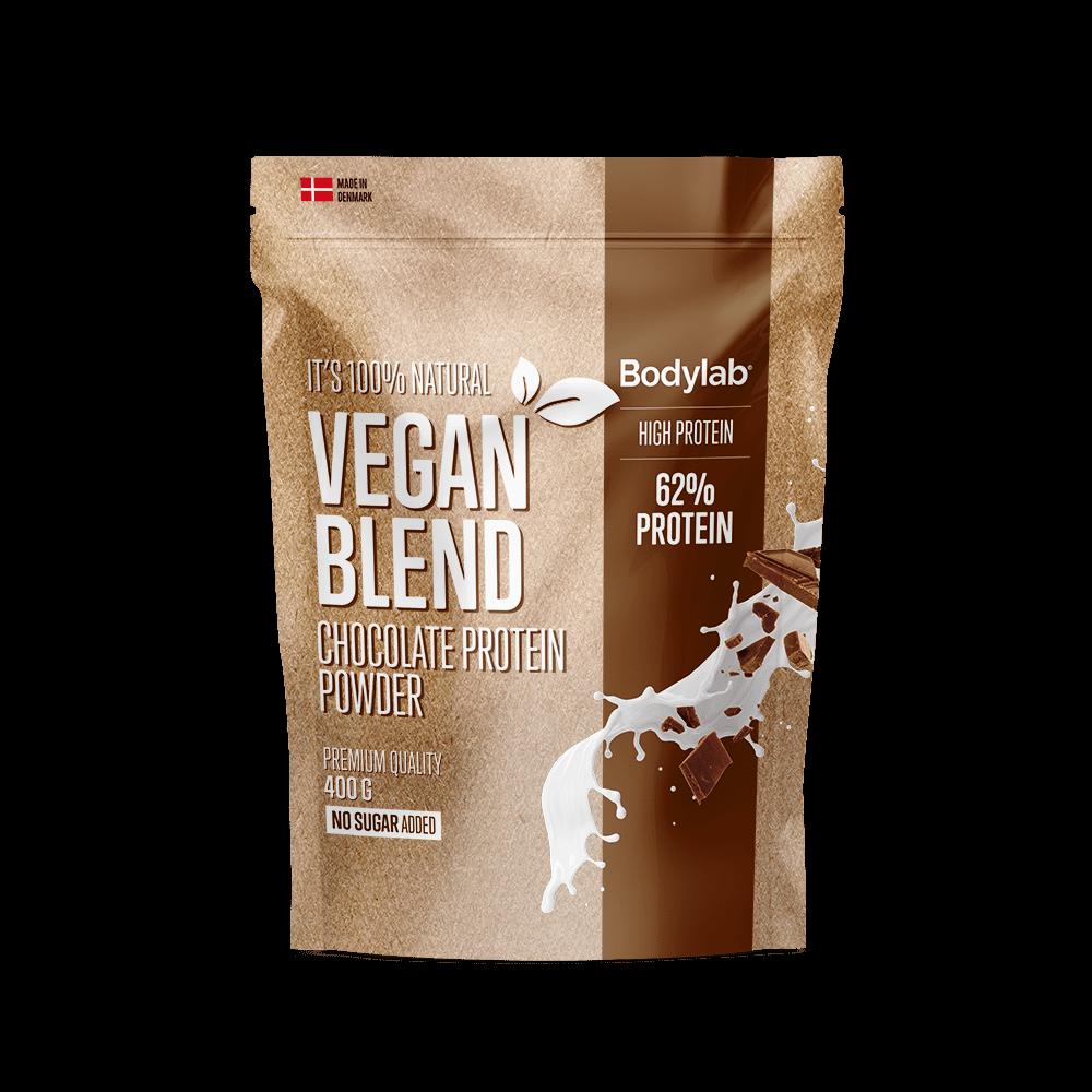 Billede af BodyLab Vegan Blend Proteinpulver Chocolate (400g)