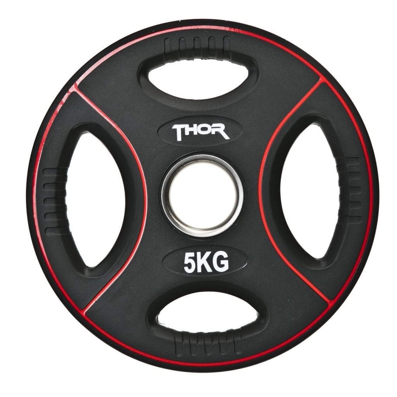 Thor Fitness Vægtskive m. Håndtag 5kg (1stk) - Thor Fitness