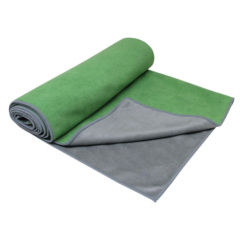 Gaiam Dual-Grip Yoga Håndklæde Grøn