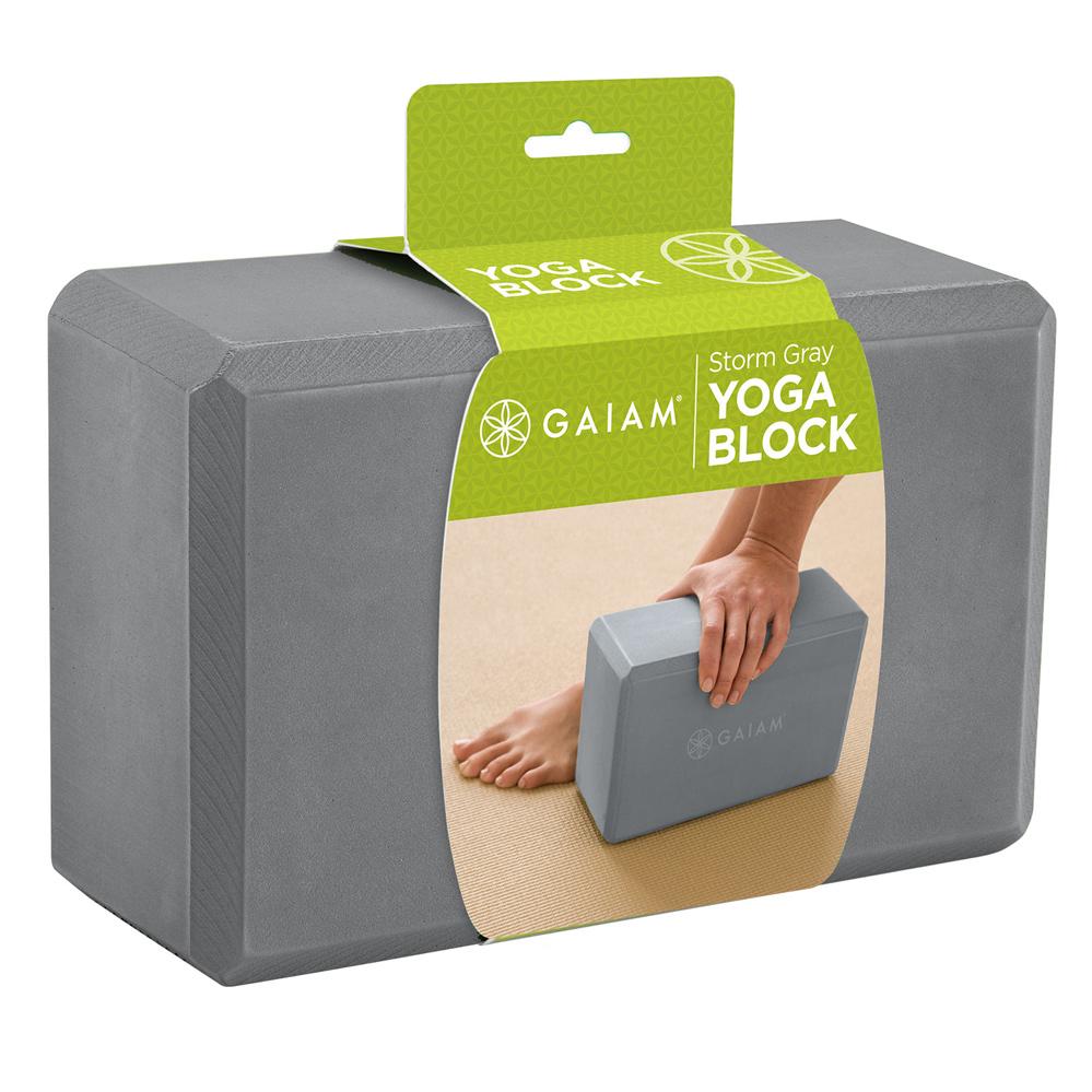 Køb Gaiam Yogablok Storm Grey