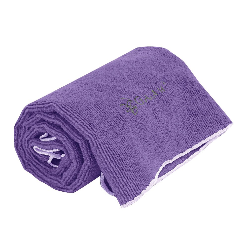 Gaiam Thirsty Yoga Håndklæde Lille Lilla