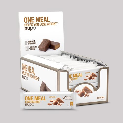 Køb Nupo One Meal Bar – Caramel 24×60 g