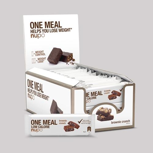 Køb Nupo One Meal Bar – Brownie Crunch 24×60 g