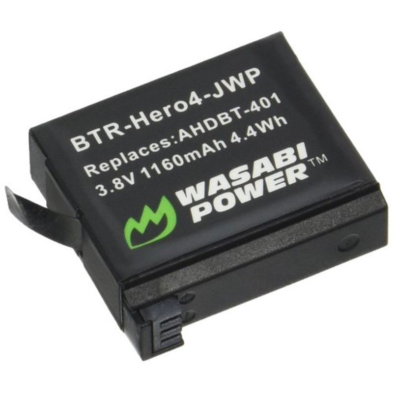 Wasabi Rechargeable Li-Ion Battery Genopladeligt Batteri (til Hero4)