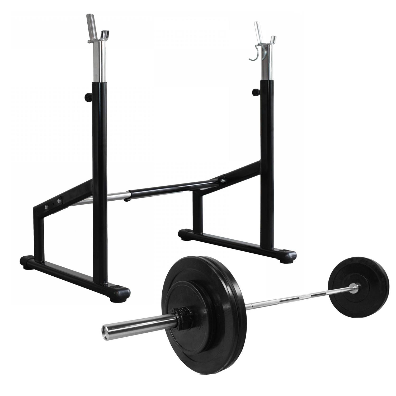 Odin Pro Squat Rack + Vægte & Vægtstang (50kg)