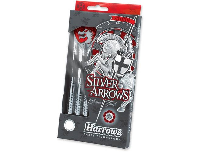 Køb Harrows Steeltip Silver Arrows  Dartpile 16g