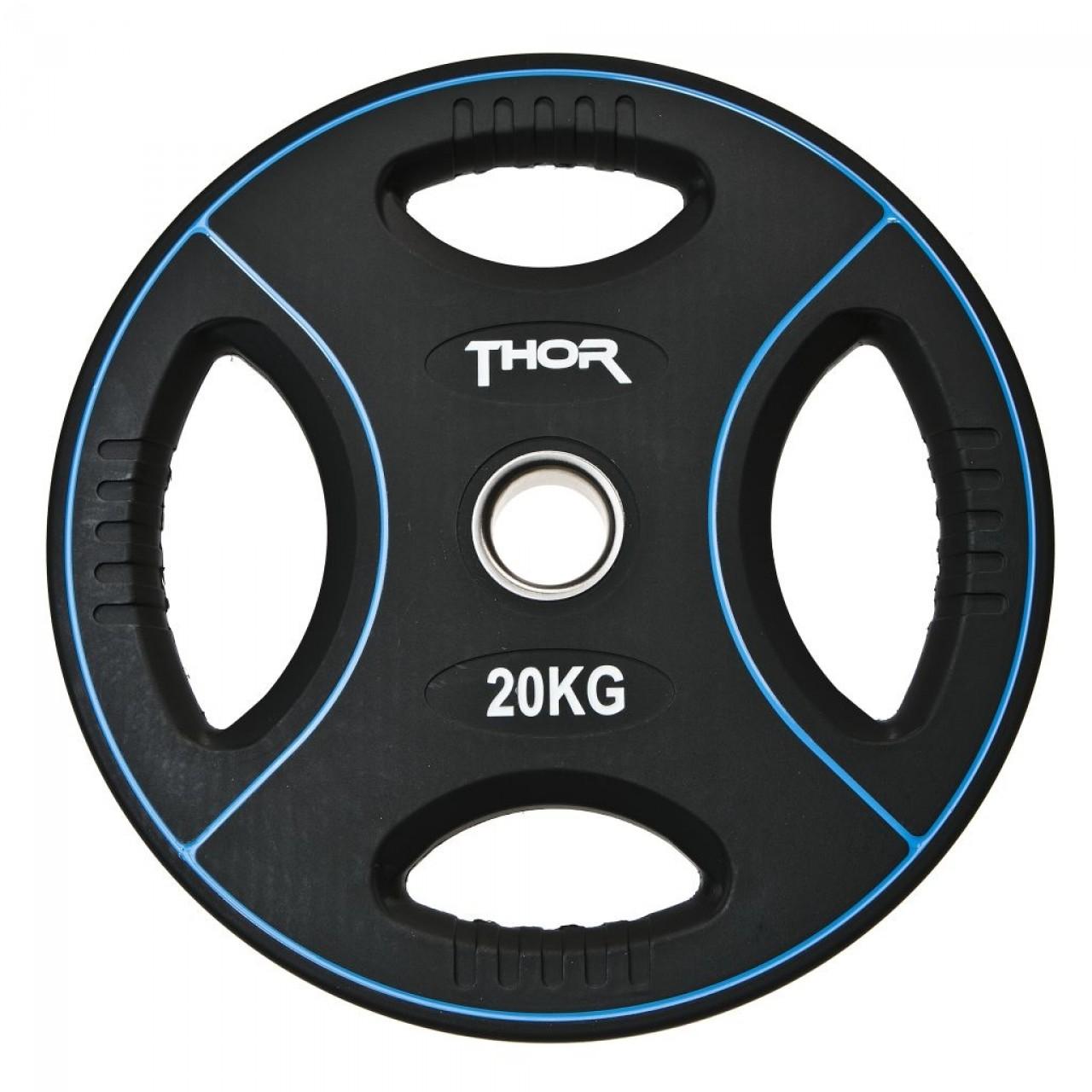 Thor Fitness Vægtskive m. Håndtag 20kg (1stk) - Thor Fitness