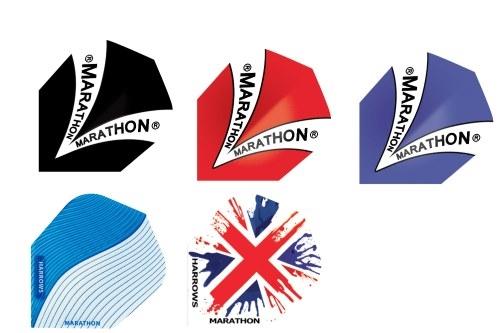 Image of Harrows Marathon B/C dart flight (11113)