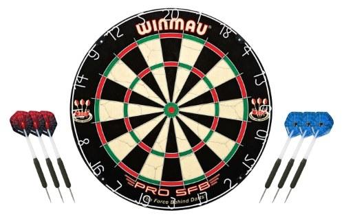 Winmau Pro SFB Dartskive + 2 x Harrows Dartpile