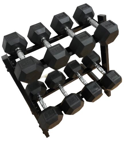 Køb Odin 130kg Hex Set PAKKETILBUD (4 sæt hÃ¥ndvægte + rack)