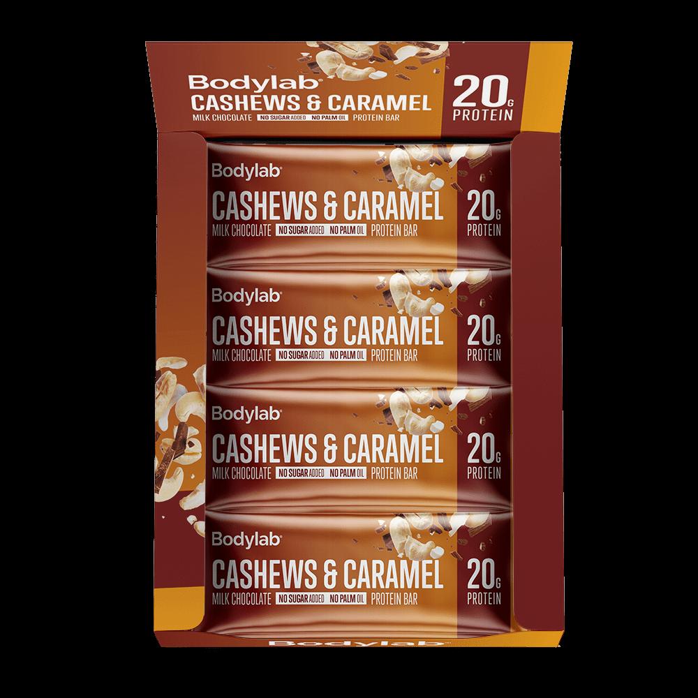 Køb BodyLab Proteinbar Cashewnødder & Karamel (12 x 55 g)