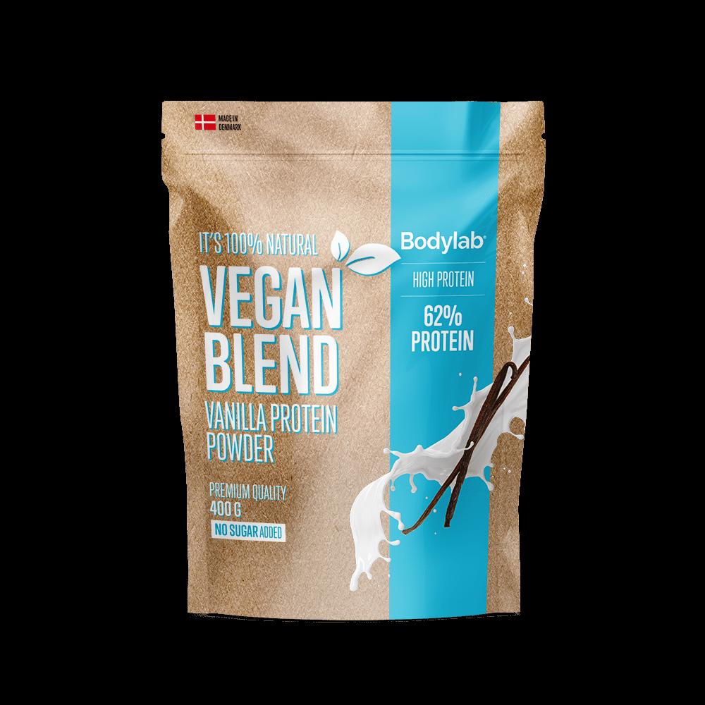 Billede af BodyLab Vegan Blend Proteinpulver Vanilje (400g)