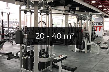 Motionsrum 20 - 40 m2
