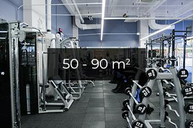 Motionsrum 50 - 90 m2