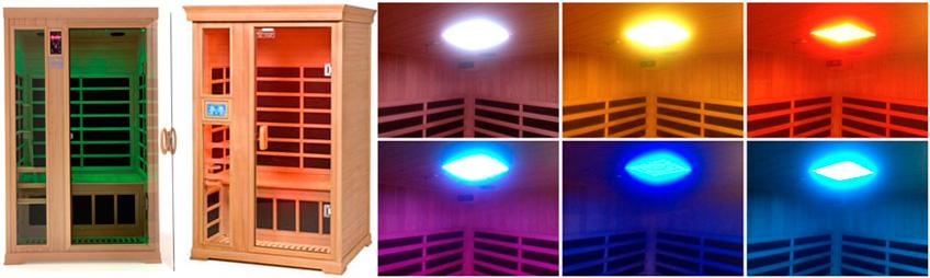 Lysterapi sauna