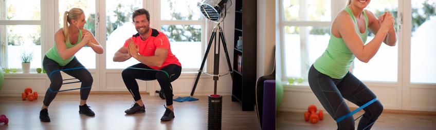 fitness elastik øvelse