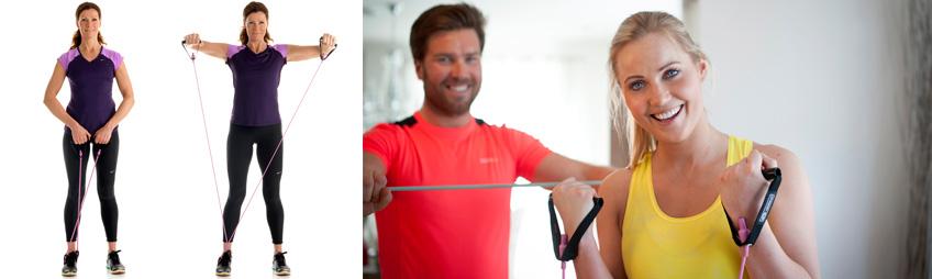 træningselastik øvelse